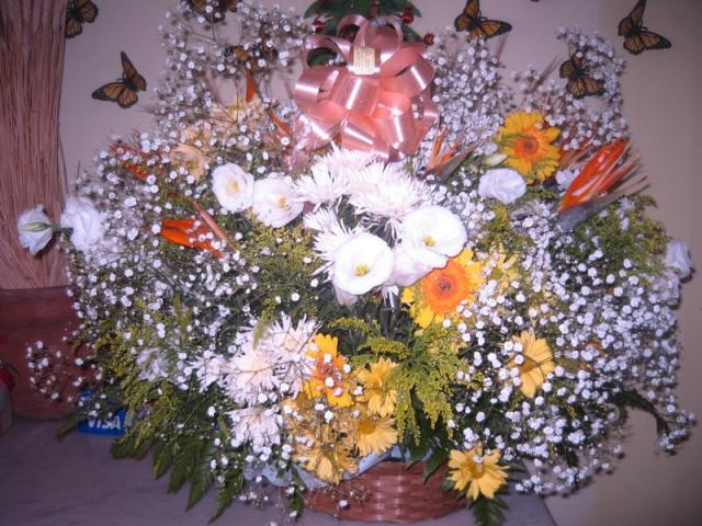 Cesta de Flores do Campo