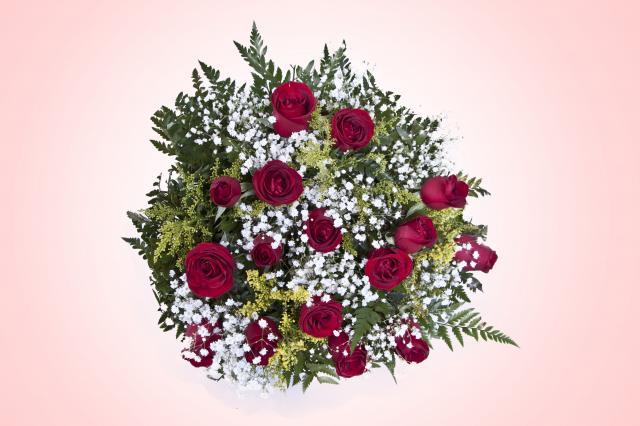 Buquê Tradicional 12 Rosas Vermelhas