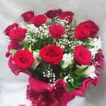 Buquê Europeu com 12 Rosas Nacionais