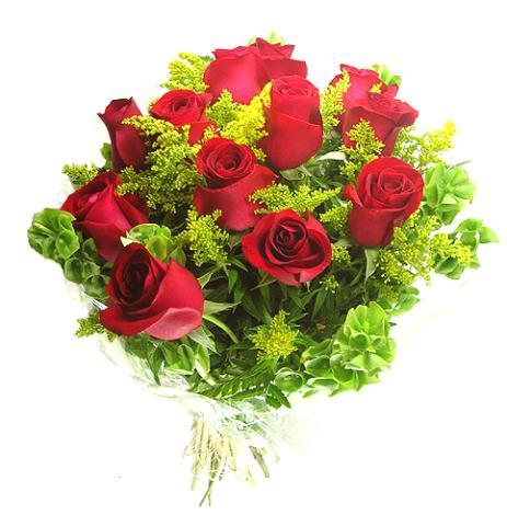 Buquê com Rosas Colombianas Vermelhas