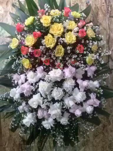 Coroa de Flores com Rosas