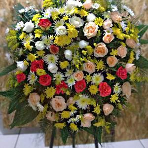 Coroa de Flores do Campo com Rosas2